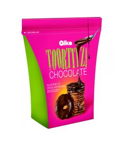 Toortitzi glazurati cu ciocolata neagra Alka 100g