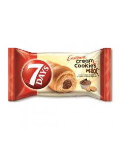 Croissant cu crema de alune de padure si bucati de biscuiti digestivi 7Days 80g