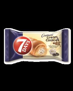 Croissant cu crema cu aroma de vanilie cu bucati de biscuiti cu cacao 7Days 80g
