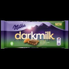 Ciocolata neagra cu lapte si migdale Milka 85g