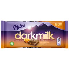 Ciocolata neagra cu lapte si caramel Milka 85g