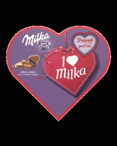 Praline cu crema de alune Love Milka 165g