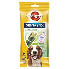 Batoane dentare cu eucalipt pentru caini de talie medie Pedigree DentaStix 180g