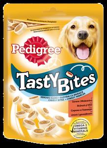 Recompense cu branza si vita pentru caini adulti Pedigree Tasty Bites 140g