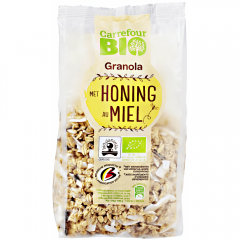 Granola musli cu miere Carrefour Bio 375g