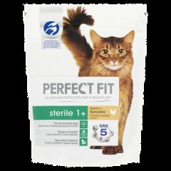 Hrana uscata cu pui pentru pisici sterilizate adulte Perfect Fit 750g