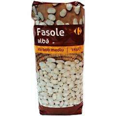 Fasole alba bob mediu Carrefour 1kg