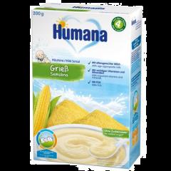 Cereale cu lapte si fulgi de gris Humana 200g