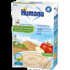 Cereale cu lapte, hrisca si mar Humana 200g