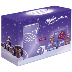 Ciocolata pachet mix sosetuta Craciun Milka 457g