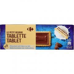 Biscuiti cu unt si ciocolata cu lapte Carrefour 140g