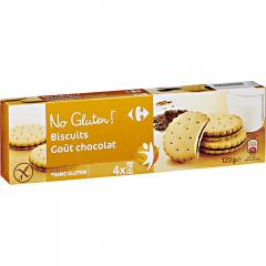 Biscuiti cu crema ciocolata fara gluten Carrefour 120g