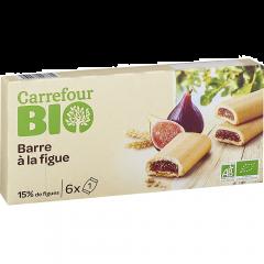 Biscuiti cu umplutura smochine Carrefour Bio 120g