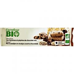 Biscuiti cu ciocolata si miez seminte Carrefour Bio 140g