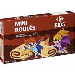 Mini prajituri rulouri cu crema de ciocolata Carrefour Kids 150g