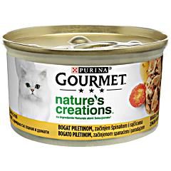 Hrana umeda pentru pisici, cu pui Gourmet Nature's Creations 85g