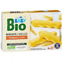 Biscuiti fondanti Carrefour Baby Bio 120g
