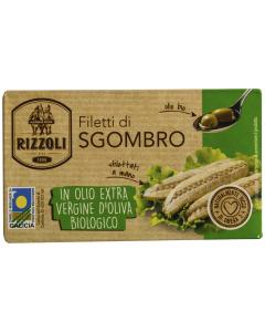 File de macrou ecologic in ulei extravirgin de masline Rizzoli 90g