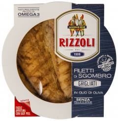 File de macrou grill in ulei de masline Rizzoli 125g