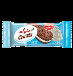 Biscuiti vanilie cu crema de cacao Ulpio 34g