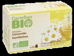 Ceai de musetel bio Carrefour 20xplicuri
