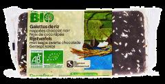 Rondele de orez cu glazura de ciocolata neagra si fulgi de nuca de cocos Carrefour Bio 90g