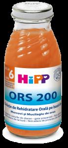 Solutie de rehidratare orala pe baza de morcovi Hipp 200ml