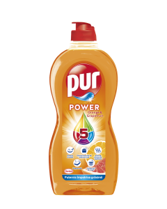 Detergent de vase Pur Power Orange&Grapefruit, 450ml