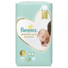 Scutece Pampers Premium Care, nr.1, 2-5kg, 54bucati