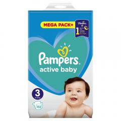 Scutece Pampers Active Baby Mega Pack, nr.3, 6-10kg, 152bucati