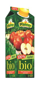 Bautura racoritoare bio  cu aroma de mere Pfanner 1L