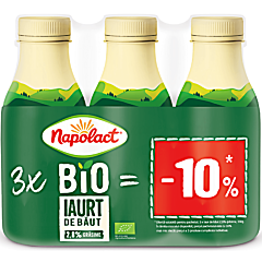 Iaurt de baut Bio 2,8%grasime Napolact 3x330g