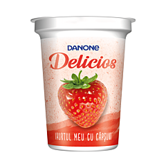 Iaurt cu capsuni Danone Delicios 400g
