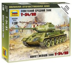 1:100 Soviet Tank T-34-85 1:100