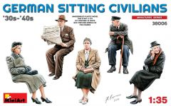 1:35 German Sitting Civilians 30s-40s - 5 figures 1:35