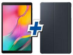 """Tableta Samsung Galaxy Tab A 10.1"""" (2019), Procesor Octa-Core, 3GB RAM, 64GB, Wi-Fi, Negru + Cover Samsung designed von ANYMORE"""