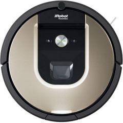 Robot aspirator iRobot Roomba 966 iAdapt 2.0, Localizare vizuala, 3 trepte AeroForce, App iRobot HOME, detectare optica siacustica a murdariei, Gri