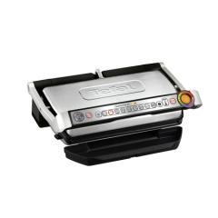 Grill electric Tefal OPTIGRILL+ XL GC722D34, 2000W, 9 programe automate de gatit, 4 grade de gatit, Placi detasabile, Inox