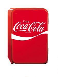 Frigider Husky RetroCube Coca-Cola, 92 L + 15 L (congelator), A++, Rosu