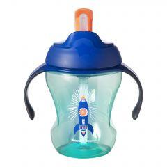 Cana Easy Drink cu pai, Tommee Tippee, 230 ml x 1 buc, 6luni+, Racheta albastra