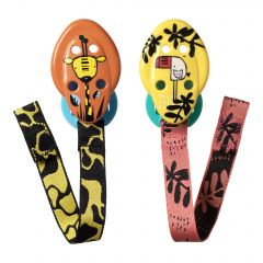 Set suport pentru suzeta, Tommee Tippee, 2 buc, Girafa / Pasa