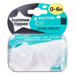 Suzeta Tommee Tippee Anytime Pacifier Transparent 0-6 Months