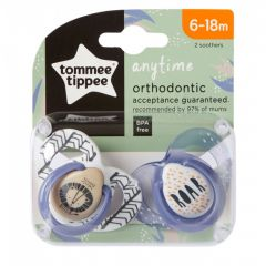 Suzete Ortodontice Anytime, Tommee Tippee, Leut, 6-18 Luni, 2 buc