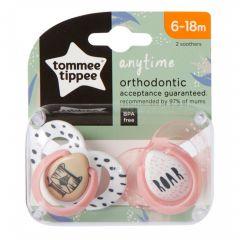 Suzete Ortodontice Anytime, Tommee Tippee, Tigrut, 6-18 Luni, 2 buc