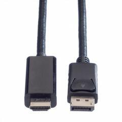 CABLU DISPLAYPORT LA HDMI UHD 4K T-T 3M NEGRU, VALUE 11.99.5787