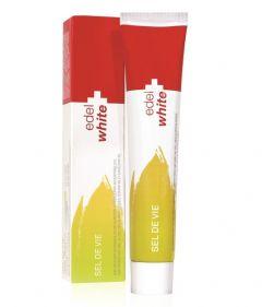 Pasta de dinti edel+white Sel de vie cu sare si extract din plante fara fluor 75ml