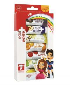 Pasta de dinti edel+white 7 Fruchtli Set 7x9.4ml pentru copii cu varsta de pana la 6 ani