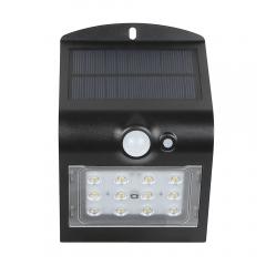 Aplica solara LED de exterior,1.5WPlus, 220lm, neagra