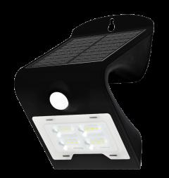 Aplica solara LED de exterior, 2W, 260lm, neagra