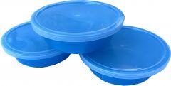 Set boluri cu capac anticurgere- 3 buc, albastru, Primii Pasi